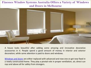 Luxury House Doors and Windows in Melbourne