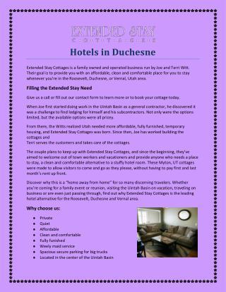 Hotels in Duchesne