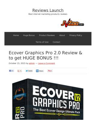 Ecover Graphics Pro Vol 2 Review and Bonus