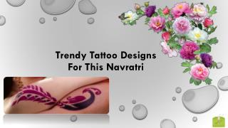 Navratri Tattoo Designs 2015