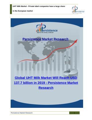 UHT Milk Market - Segment, Analysis, Trend, Size, 2019