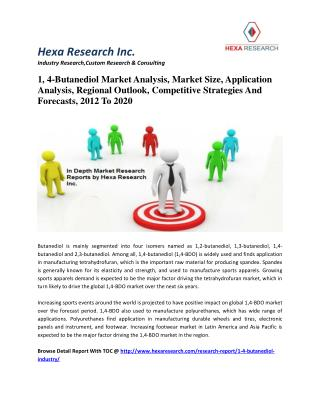 1, 4-Butanediol Market Analysis, Market Size, Application Analysis, Regional Outlook, Competitive Strategies And Forecas