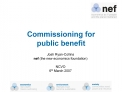 Commissioning for  public benefit