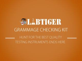 Buy Grammage Checking Kit Online for Standardized Measurements