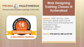 Web DesigningTraining Institutes In Hyderabad | Web Designing Training Classes Hyderabad – Prism Multimedia
