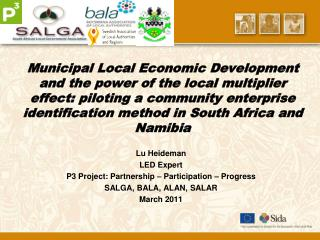 Municipal Local Economic Development and the power of the local multiplier effect: piloting a community enterprise ident