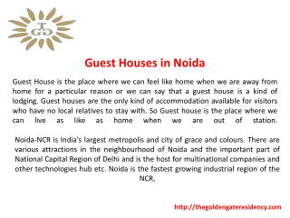 Guest House in Noida