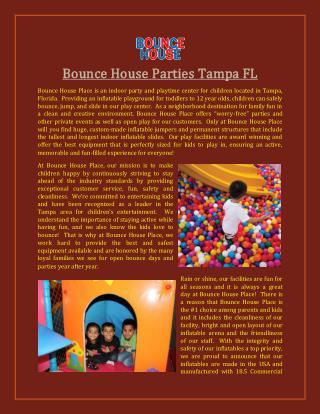 Indoor Party Zone Tampa FL
