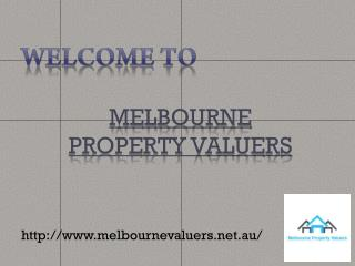 Melbourne Property Valuers For Property Valuations Services