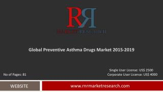 In-Depth Preventive Asthma Drugs Market Global Analysis and Forecasts 2015 � 2019