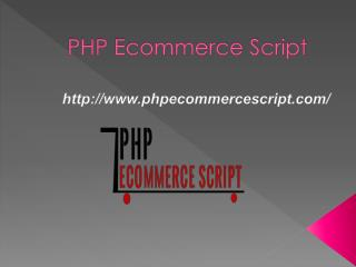 PHP Ecommerce Script