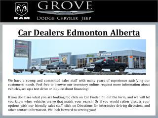 Car Dealers Edmonton Alberta