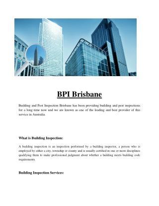 BPI Brisbane | Termite Inspections Brisbane