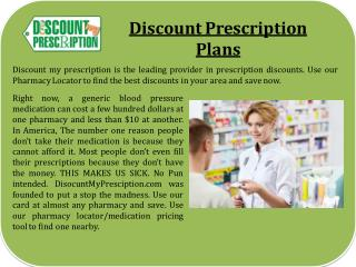 Discount Prescription Plans