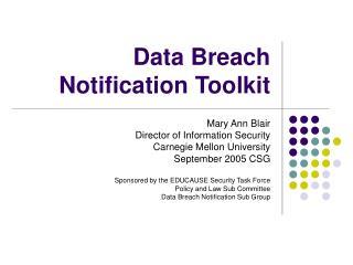 Data Breach Notification Toolkit