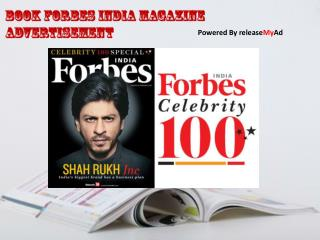 Advertising Procedure for Forbes India Magazine