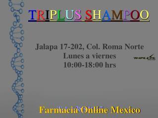 Producto natural para el crecimiento del cabello - Triplus Shampoo