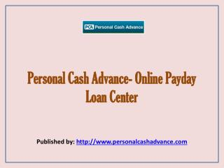 Online Payday Loan Center