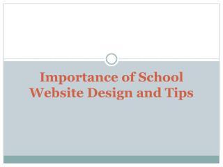 Importance of School Website Design