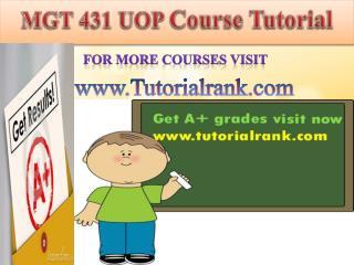 MGT 431 UOP course tutorial/tutoriarank