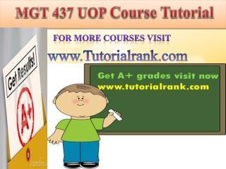 MGT 437 UOP course tutorial/tutoriarank
