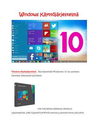 Windows Käyttöjärjestelmä