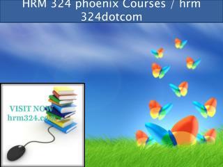 HRM 324 professional tutor / hrm 324dotcom