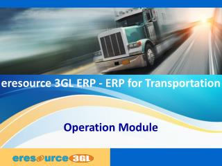 Operation module eresource 3 gl erp(erp for transportation)