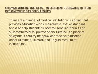 Study Medicine Overseas at Top Medical University