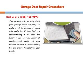 Garage Door Opener Greensboro