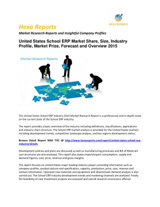 United States School ERP Market Share and Size, Vendor Strategies, Regional Outlook & Forecasts, 2015