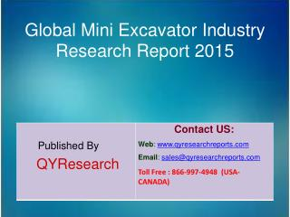 Global Mini Excavator Market 2015 Industry Growth, Trends, Analysis, Research and Development