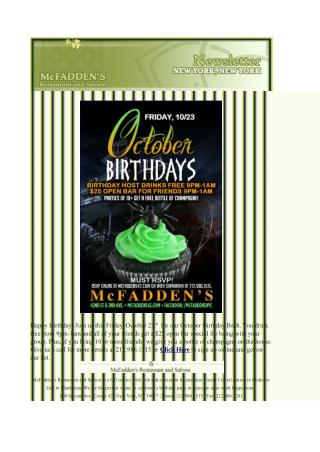 October Birthday Bash