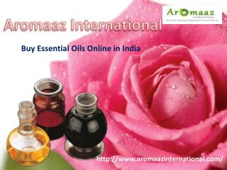 Buy Essential Oils Online in India!!