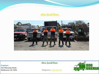 Junk and Rubbish Removal Melbourne - 1800 Junkman