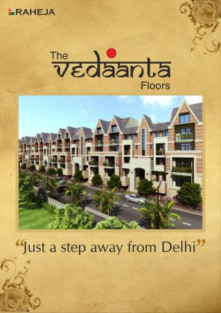 Raheja Developers Brochure Vedaanta Floors Gurgaon