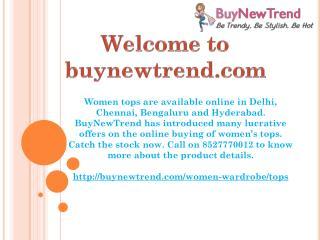 Buy online tops for women  in Delhi, Chennai, Bengaluru, Hyderabad