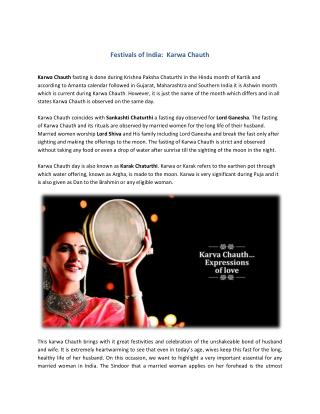 Festivals of India: Karwa Chauth