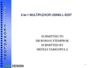 2-to-1 MULTIPLEXOR USING L-EDIT