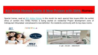 Avj Amba Homes offering 1 bhk, 2 bhk flats in Indirapuram
