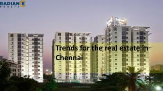 Trends for the real estate in Chennai