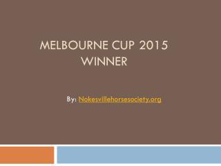 Melbourne Cup Winner