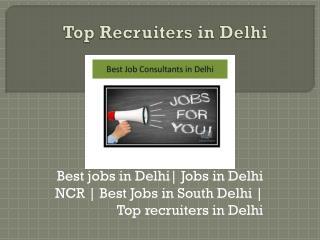 Best Jobs Available in Delhi | Job Mirror