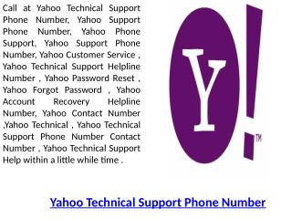 Yahoo Customer Care ! Yahoo Phone Support Number