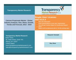 Calcium Propionate Market - Global Industry Analysis, Forecast, 2013 – 2019.