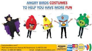 Angry Birds Costumes to help you have more fun