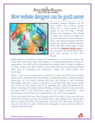 How website designer can be good career