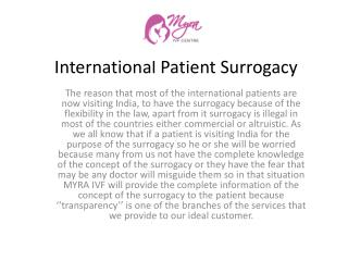 International Patient Surrogacy