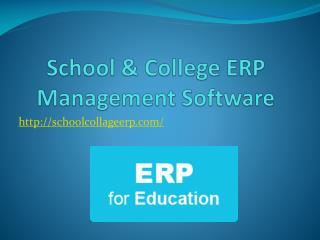 School & College ERP Management Software