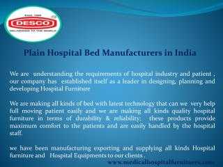 Plain Hospital Bed Manufacturers in India